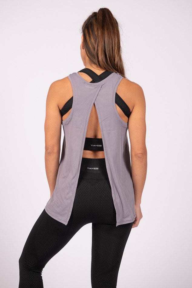 Independent Open Back Tank Top – Iris Mauve