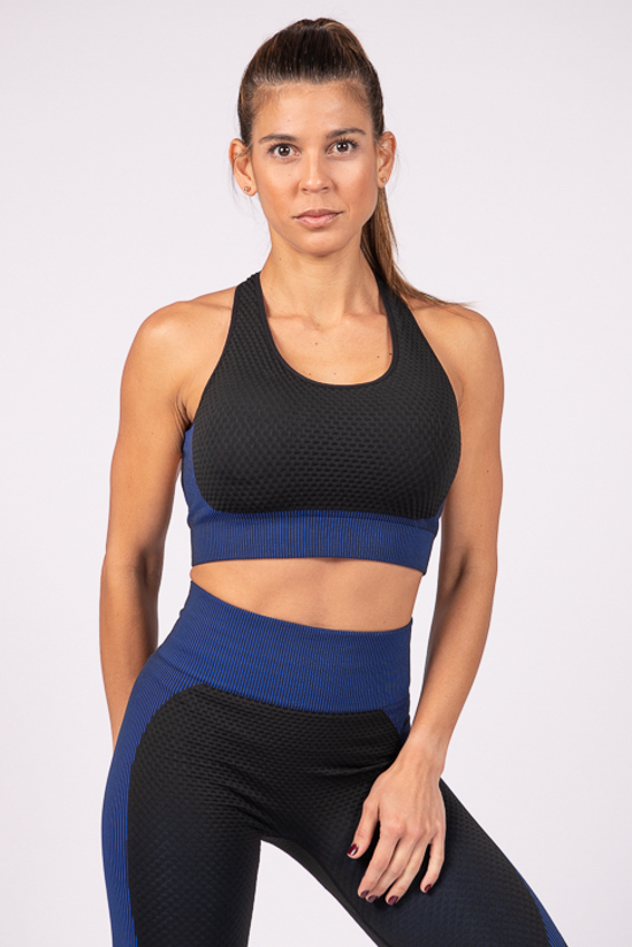 Powerful Bra – Black/Blue