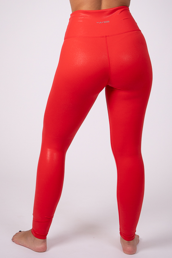 Rise and Shine High Rise Leggings – Blaze Red