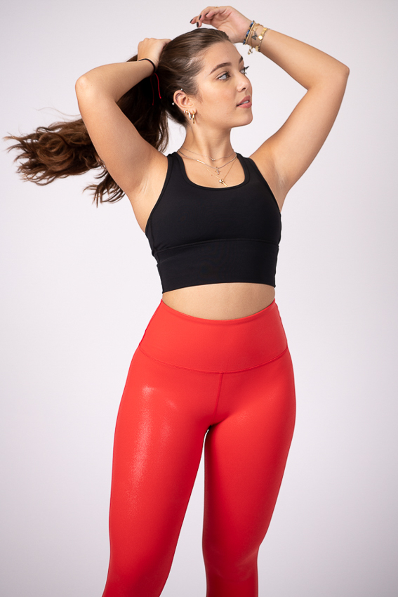 Rise and Shine High Rise Leggings - Blaze Red