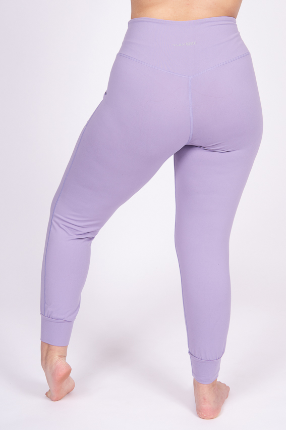 High-Waist Chilled Joggers – Lilac