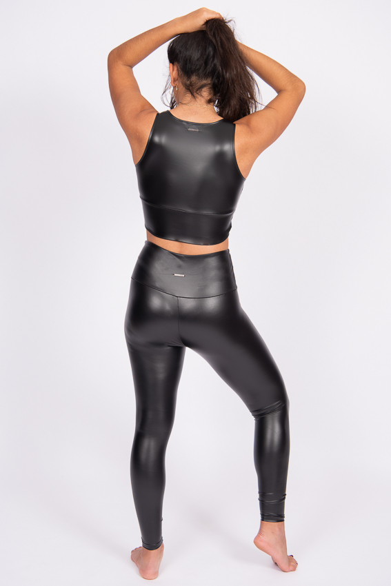 Bold Faux Leather Leggings - Yuly360