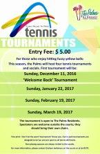 2016-2017 Tennis Tournaments