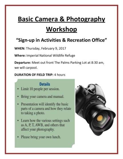 2017-02-09 Basic Camera Work Shop
