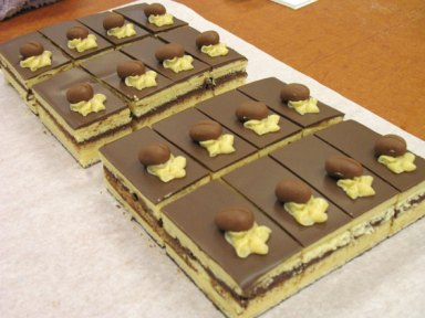 Sliced Opera Cake