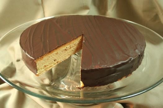 Finished Baumkuchen Cake