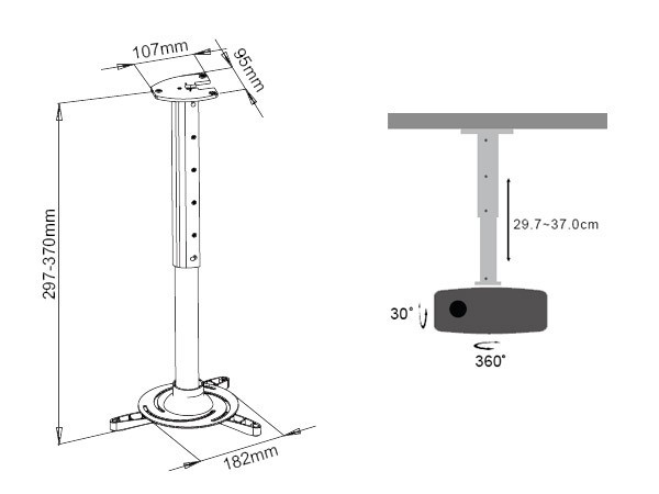 UNIVERSAL LED LCD PROJECTOR HDMI PROJECTOR CEILING MOUNT