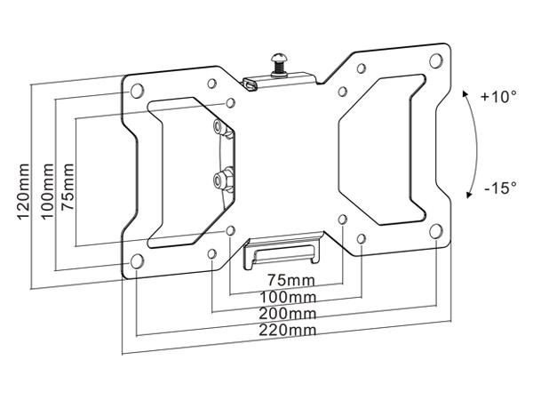 LCD LED Plasma TV Soporte pared para 19 20 21 22 24 26 28