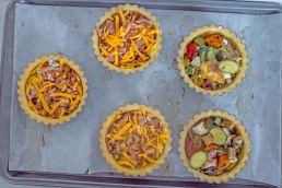 Quiches in the making