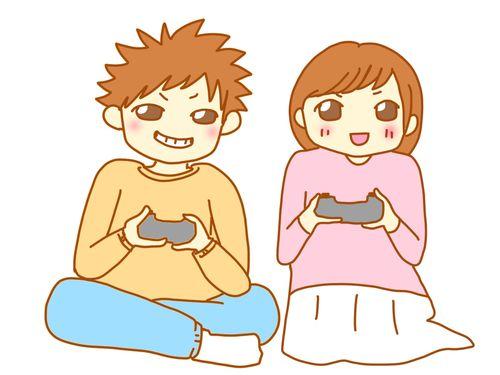 恋人と遊ぶ
