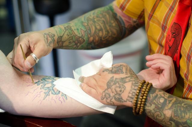 タトゥー 自分の意志