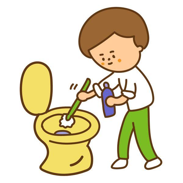 トイレ掃除をする