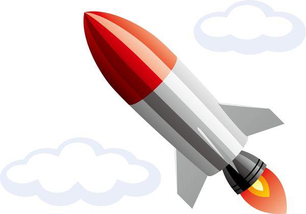 ミサイルが頭上を飛んでる