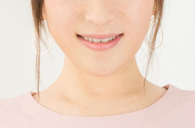 笑ってる唇