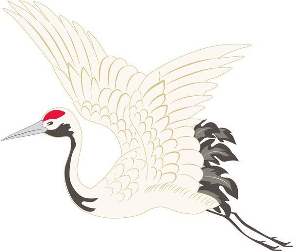 鶴が飛び立つ