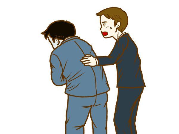 酔っ払った上司を介抱する
