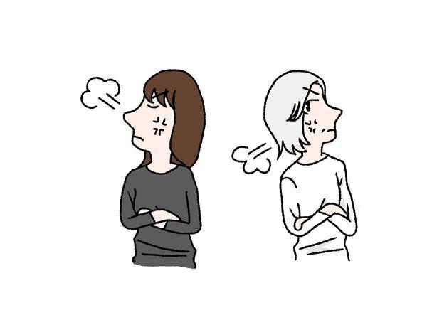 母親と喧嘩する