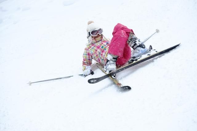 スキー・スノーボードで転んでケガをする