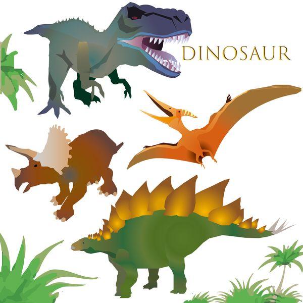 たくさんの恐竜がいる