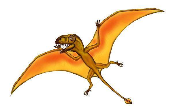 恐竜に乗る