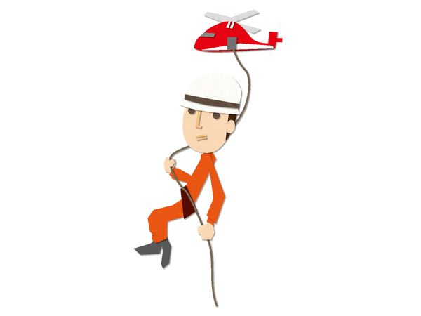 ヘリコプターから誰かを救助する