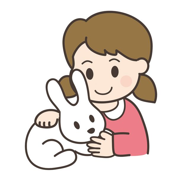 ペットに触る