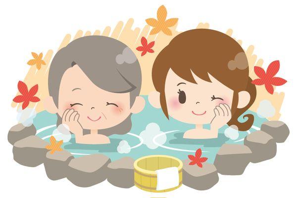 祖母とお風呂に入る