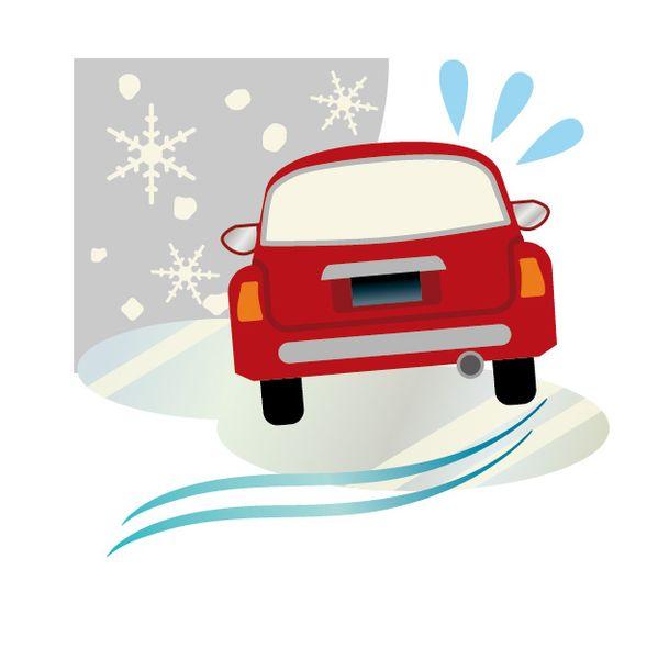 凍った路面や坂道で滑る