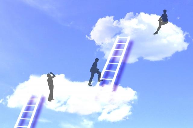 はしごが天空に向かう