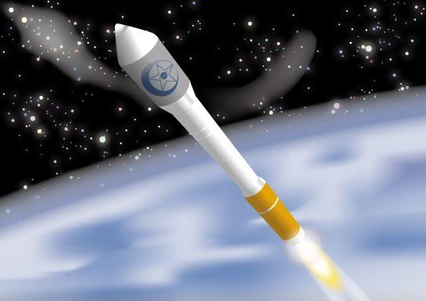 ロケットの打ち上げが成功する