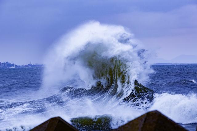 津波が洪水になる