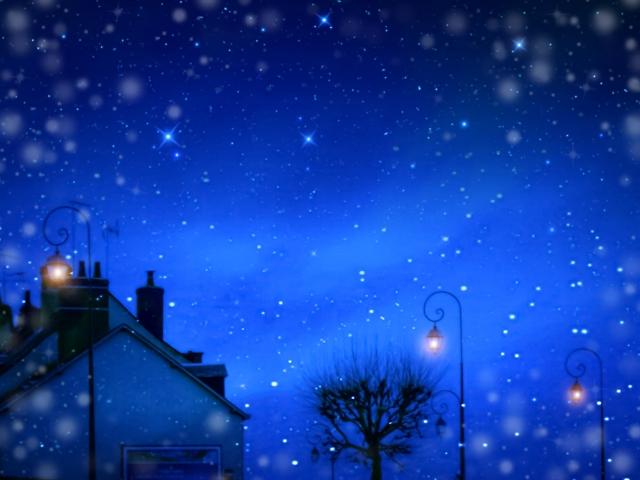 夜の住宅街の夜景