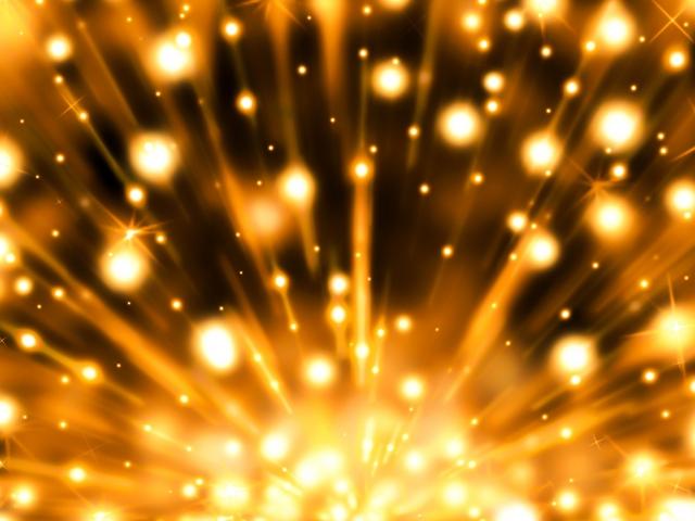 流れ星が爆発する