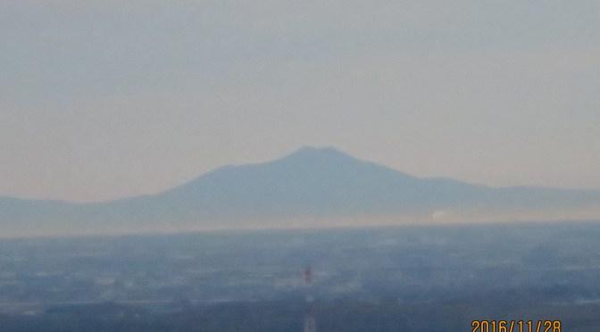 筑波山が見えた