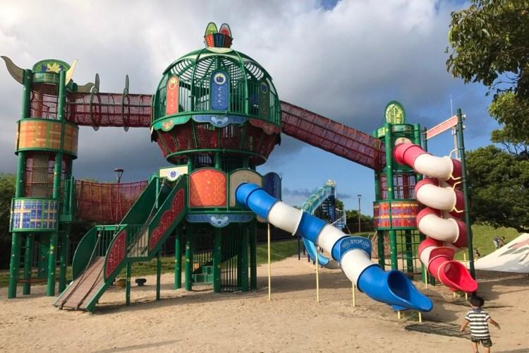 沖縄南部【南風原チンクワーランド公園】幼児用のアスレチックも?
