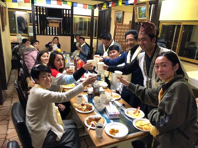 ネパールの旧正月お祝いパーティー