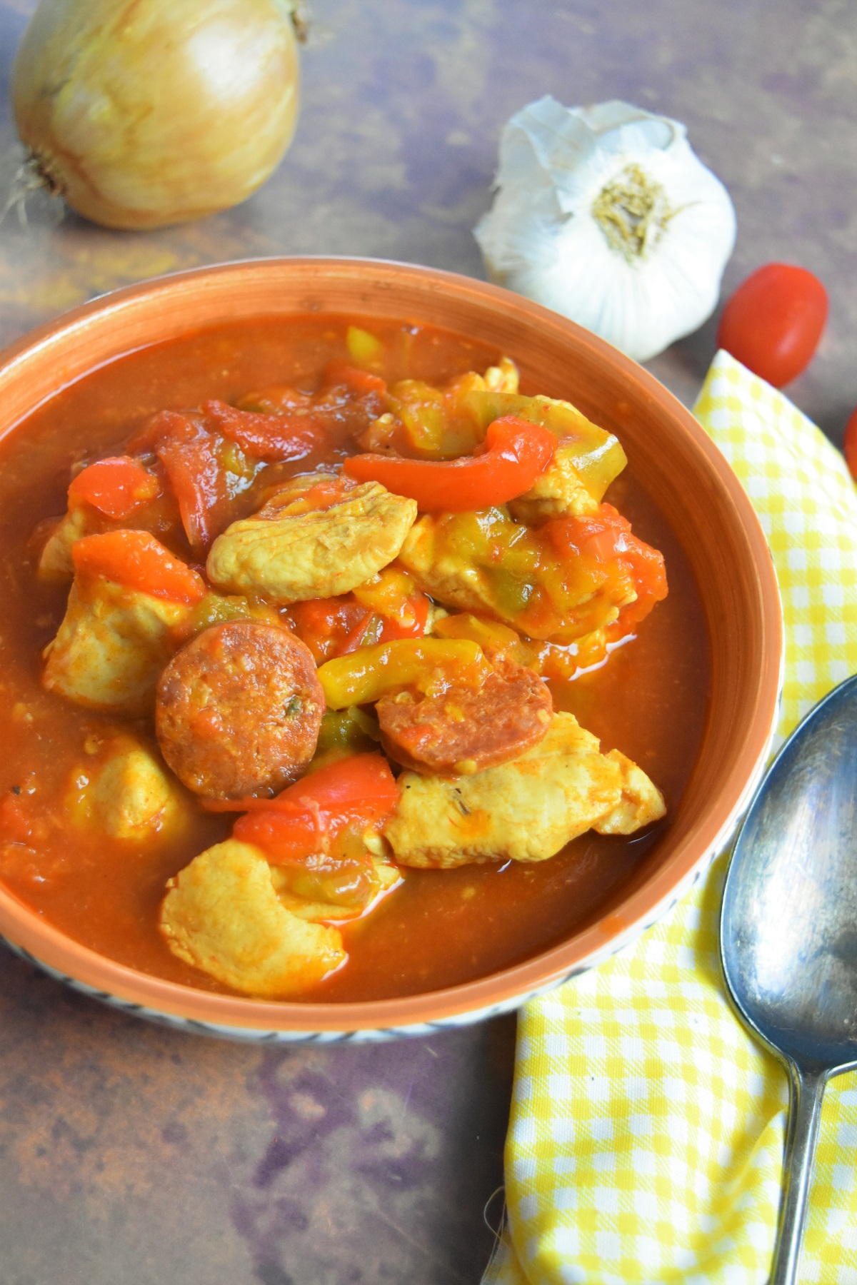 Poulet Basquaise Au Chorizo : poulet, basquaise, chorizo, Poulet, Basquaise, Chorizo, Recette, Cookeo