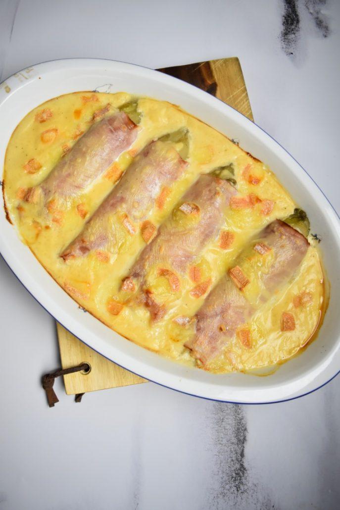 Endives Au Jambon Delicieuses : endives, jambon, delicieuses, Endives, Jambon, Maroilles, Recette, Cyril, Lignac