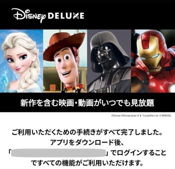 ディズニープラス登録完了