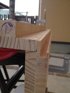 WOODONE風の扉の取っ手加工2
