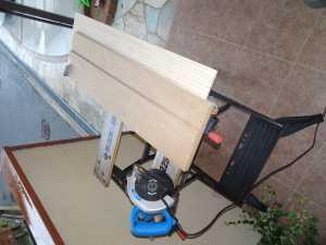 木材の切り出し、丸鋸直線カットの治具
