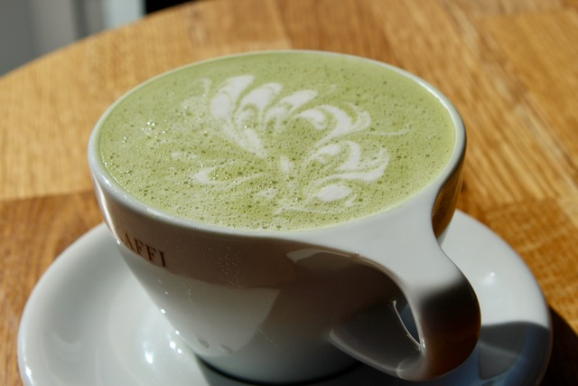 Matcha latte green tea