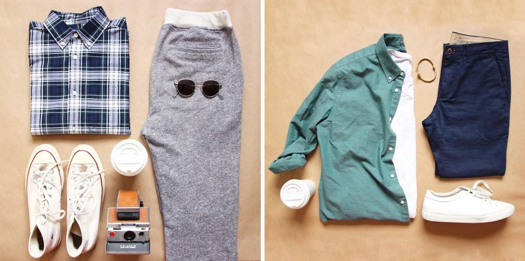 Yummertime styles men's Gap shirts for fall