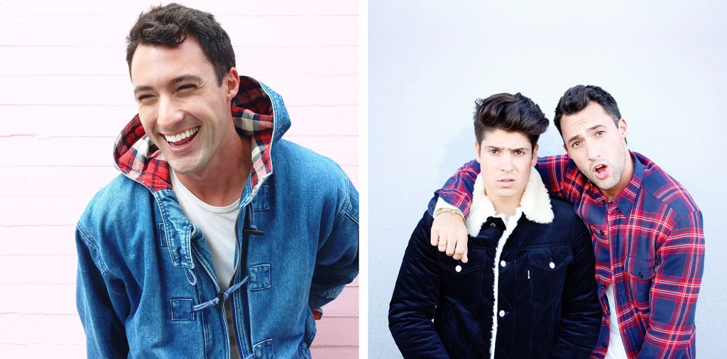 Chris and Brock, of Yummertime, men's Instagram style, men's layers