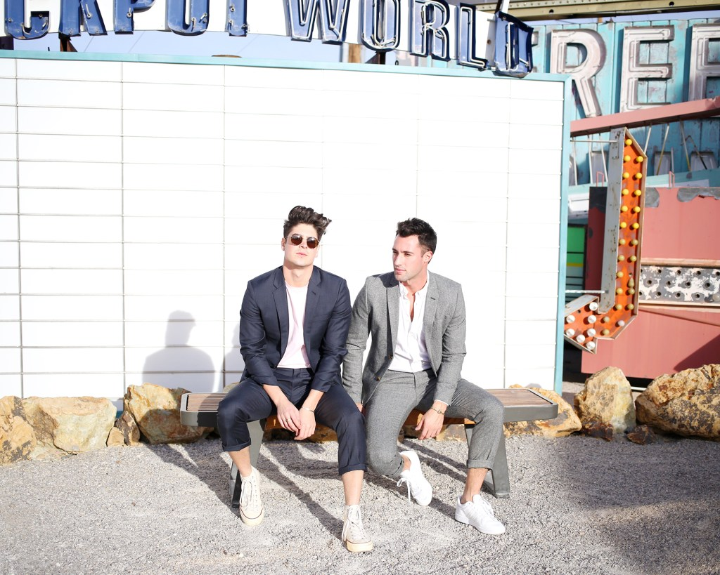 Brock and Chris, of Yummertime, at The Neon Museum, Las Vegas