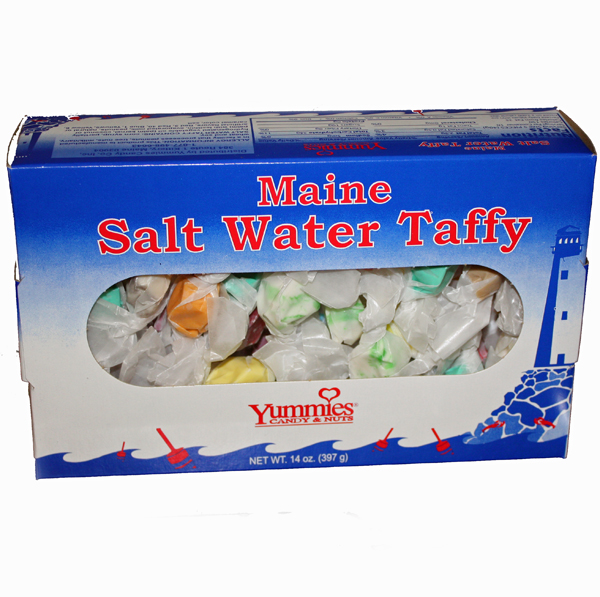 Maine Saltwater Taffy 14 ounce Box - Yummies Candy & Nuts