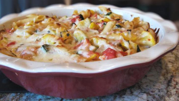 Baked Ziti and Summer Vegetables
