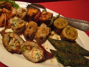 veg kabab platter