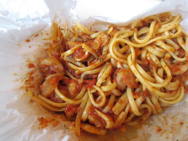 Linguine & seafood in a bag