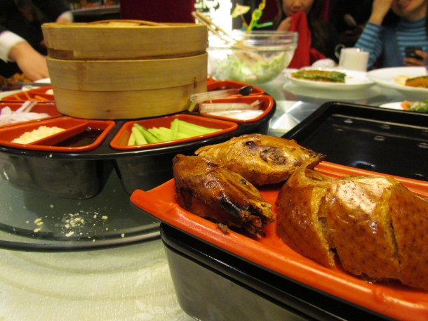 Peking duck + condiments